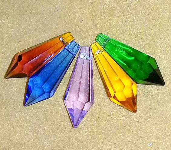 Silant. silant 6 x $ 550 caireles prisma 4cm cristal color
