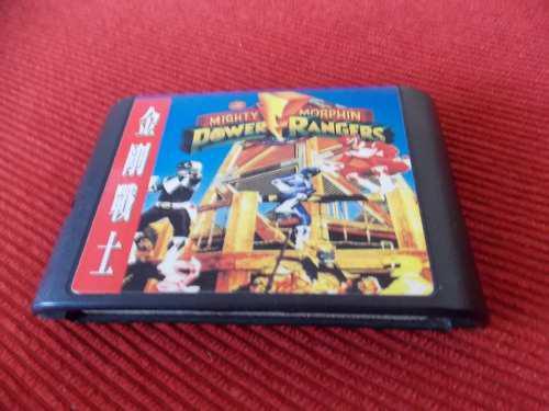 Cartucho De Juego Power Rangers Mighty Morphin De Sega
