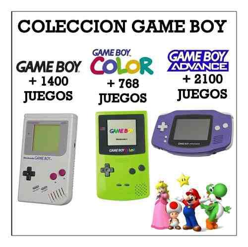 Colección Game Boy (3 Consolas) + 4250 Juegos Pc - Android