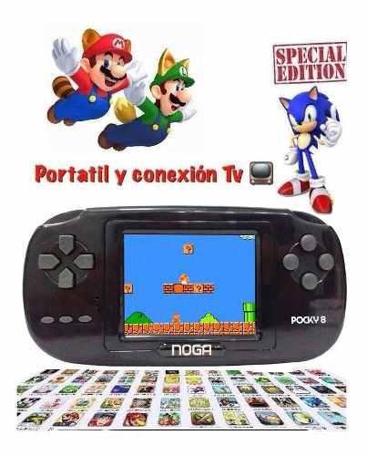 Consola Portátil Edicion Especial Mario Sonic 8bits Retro