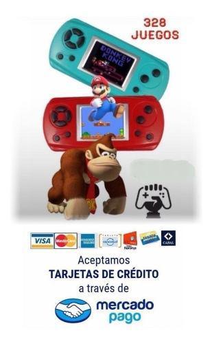 Consola Portátil Family 8bits Arcade 328 Juegos Retro