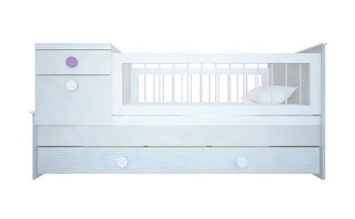 Cuna Funcional Con Mesa De Luz Nature Reforzada Dormitorio