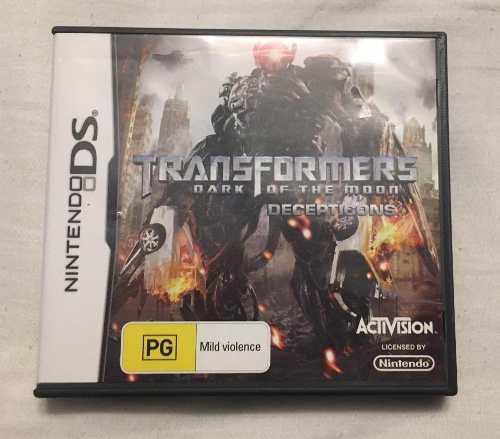 Juego Nintendo Ds Transformers Dark Of The Moon Completo