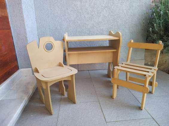 Mesa silla infantil niños didactico en Rosario