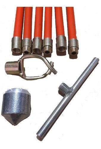 Caña Fleje Destapa Cañeria X 10 Unid Bronce + 3 Accesorios