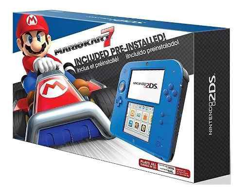Consola Nintendo 2ds Azul Mario Kart 7, Producto Nuevo