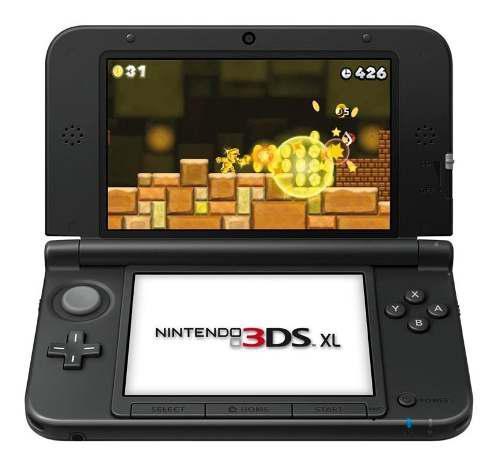 Consola Portatil Nintendo 3ds Xl Color Negro Fact A-b