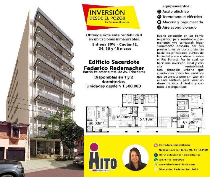 Departamento de 1 Y 2 Dormitorios DESDE EL POZO!!! EXCELENTE