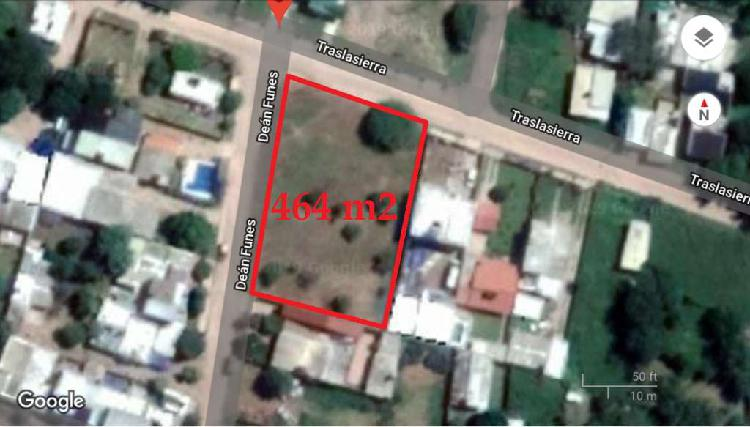 Dueña Vende Terreno Esquina en Villa Cura Brochero con