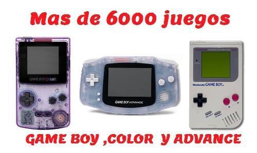 Emulador Gameboy Color Y Advance+ 6000 Juegos Pc 3 X 1