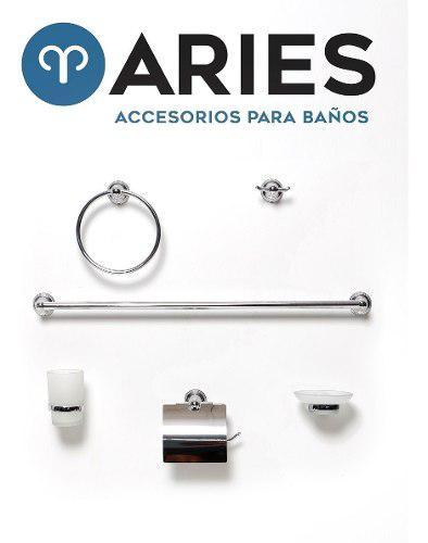 Kit De Accesorios Para Baños 6 Piezas Cromo Y Vidrio M-2100
