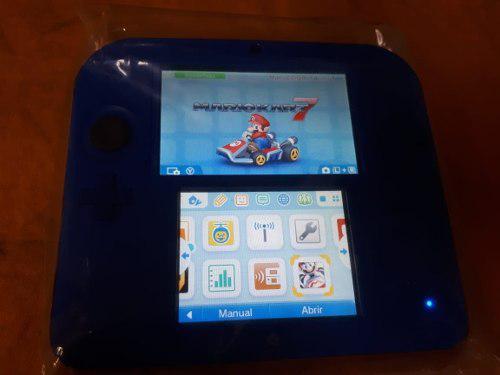 Nintendo 2ds Blue Con Mario Kart 7 (incluye Bolso Original)