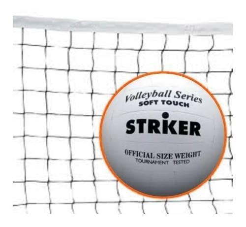 Red De Voley 7 Mts + Pelota De Voley Striker Voleibol