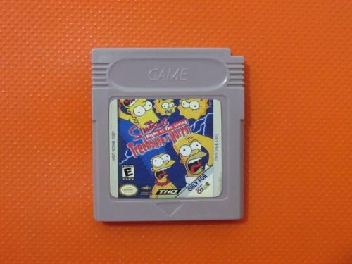 Simpsons Night Of Living Treehouse Of Horror Game Boy Color