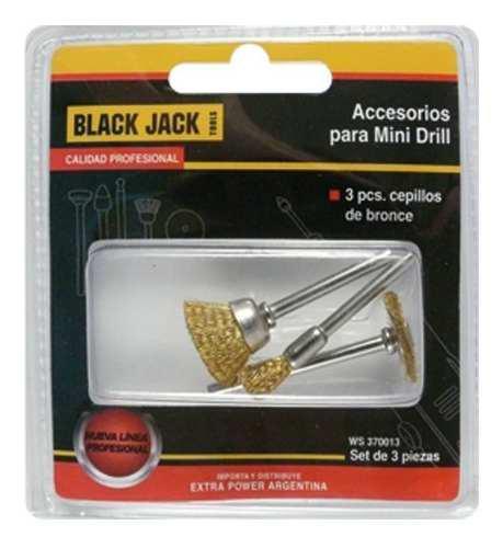 Accesorio Torno Mini Drill 3 Cepillos De Bronce Black Jack