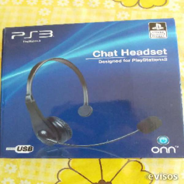 Auriculares chat headset ps3 play 3 envios al interior