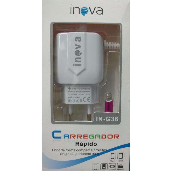 Cargador rápido para IPhone Inova de 2,1 amperios