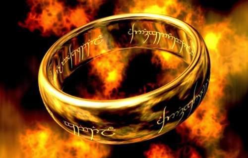 Anillo Con Colgante Señor De Los Anillos. Frodo Sauron.