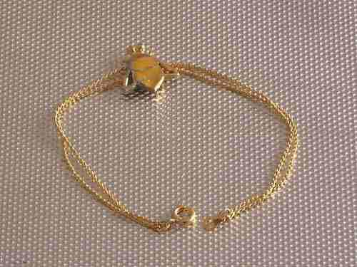 Antigua Pulsera De Metal Dorado Con Dije Abeja Cº Mma1234