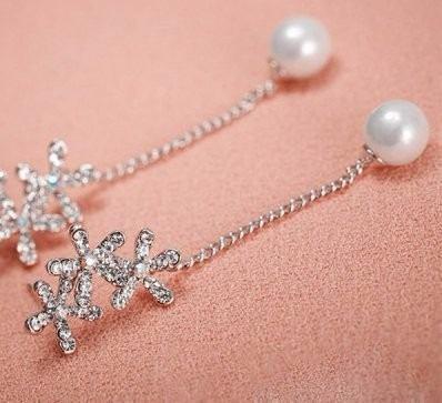 Aros Ideal Novias Con Perlas En Metal Plateado