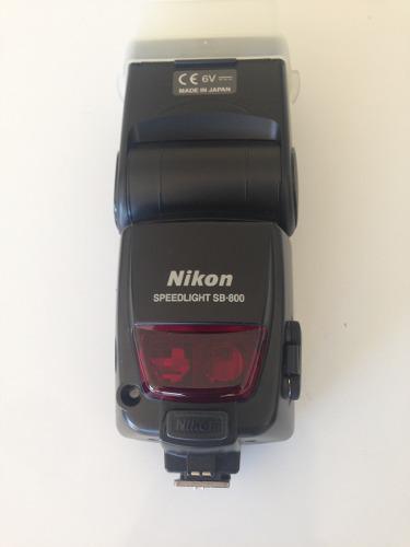 Flash Nikon Sb-800 Af Speedlight Con Funda Y Accesorios