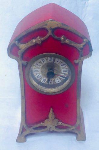 Antiguo Reloj Aleman Art Nouveau - En Funcionamiento