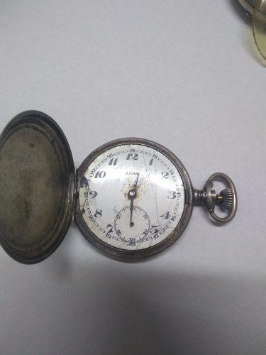 Antiguo Reloj De Bolsillo De Plata A Reparar.