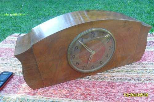 Antiguo Reloj De Mesa Chimena Caja Madera