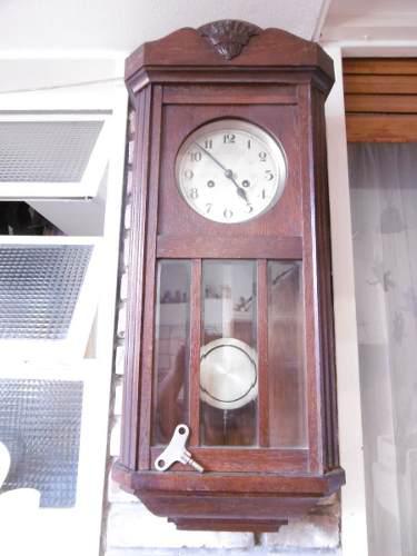 Antiguo Reloj De Pared Aleman, Soneria De Horas Y Medias Hs