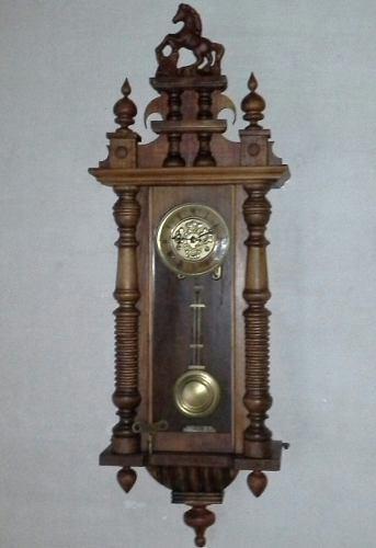 Antiguo Reloj De Pared Junghans B09 A Pendulo Aleman