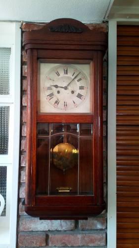 Antiguo Reloj De Pared Junghans Carrillón, 1/4, 1/2,3/4 Y
