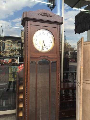 Antiguo Reloj De Pie Medio Carrillon Con 2 Pesas !!