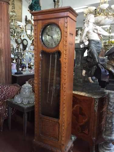 Antiguo Reloj De Pie Medio Carrillon, Impecable Estado