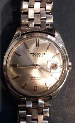 Antiguo Reloj Marca President A Cuerda 21 Rubi 35 Mm