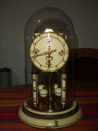 Antiguo Reloj Torsion Con Cupula De Cristal Schatz Aleman