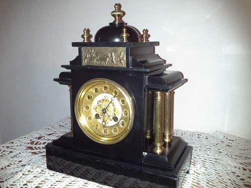 Atiguo Reloj De Mesa Paris Marmol Funciona