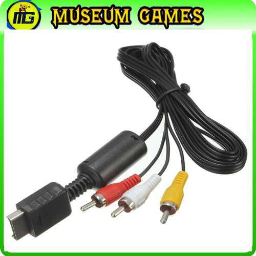 Cable Av Para Play 1-2-3 Ps2 Rca -local-