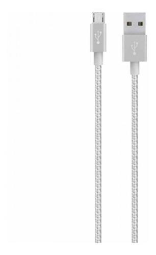 Cable Belkin Micro Usb Metalico Para Celulares Samsung 1,2m