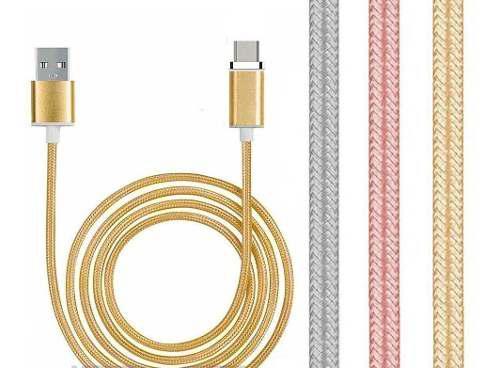 Cable Micro Usb Carga Rápida 2.1a Mallado 3 Metros