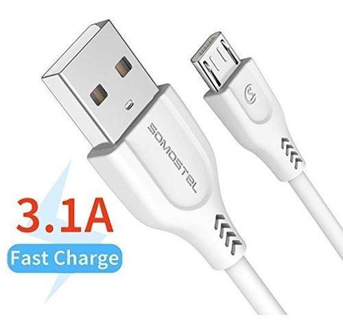 Cable Premium Usb Micro Usb Carga Rapida Datos Somostel