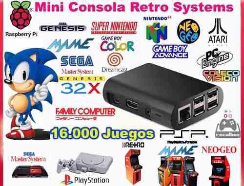 Consola Retro Video Juegos 64 Gb + 2 Joysticks Inalambricos