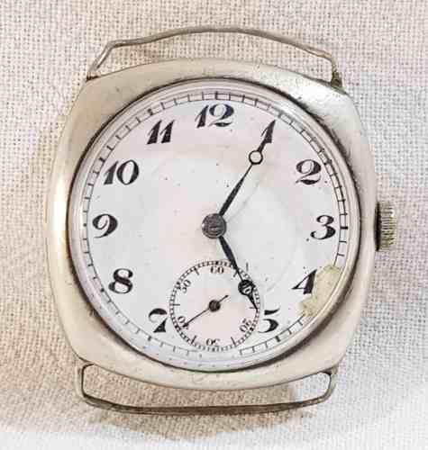 Reloj Antiguo Caja Cuadrado Plata Pulsera Maquina Marcada A