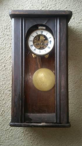 Reloj De Pared Antiguo Aleman A Restaurar!!
