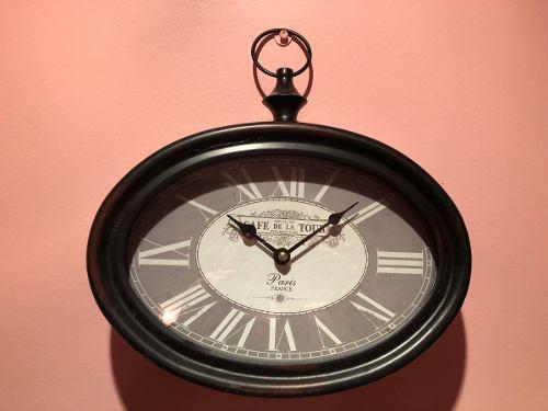 Reloj De Pared Simil Antiguo-de Estacion, Todo De Hierro