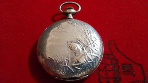 Reloj De Plata Antiguo De Bolsillo Escasany Hnos - Completo