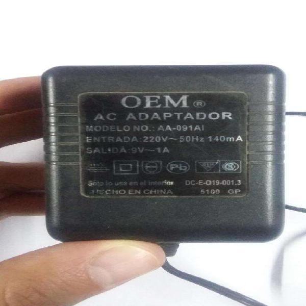 Adaptador Oem para Modem - 9v 1a - AA-091AI