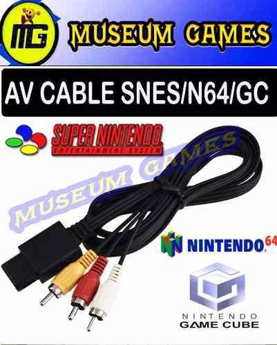 Cable Audio Video Super Nintendo Snes- Nintendo 64- Gamecube