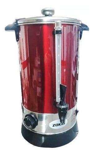 Cafetera Electrica 10ltz Zokin Acero Inox Rojo Regulador