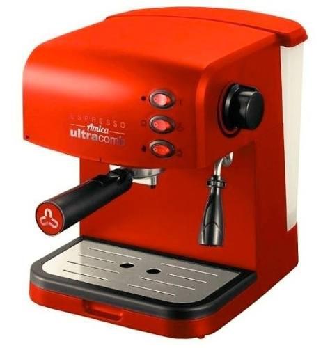 Cafetera Express Ultracomb Ce-6108 Roja, Presión 15 Bares