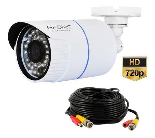 Camara De Seguridad Cctv 720p Con Cable De Video Y Corriente